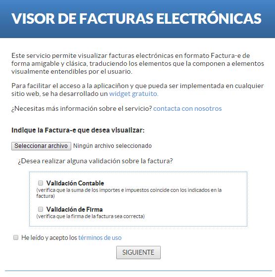 facturas electrónicas