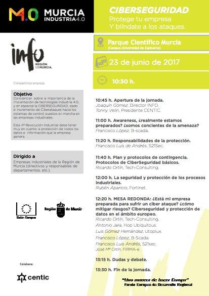 Programa Jornada Ciberseguridad